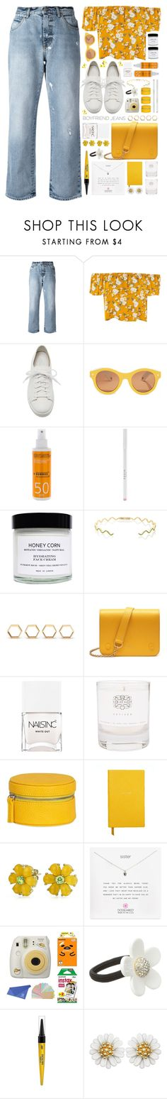 """""""Borrowed from the Boys: Boyfriend Jeans"""" by susli4ek ❤ liked on Polyvore featuring Alexander McQueen, Santoni, Lucy Folk, Korres, Honey Corn, Sabine Getty, ferm LIVING, Mulberry, Nails Inc. and Law of Sleep"""