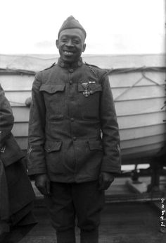 """They called Sgt. Henry Johnson """"Black Death,"""" a soldier from the all-black """"Harlem Hellfighters"""" unit who fought off two dozen Germans wi..."""