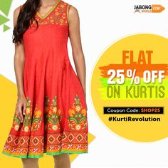 A breath of fresh air--> http://www.jabongworld.com/women/kurtis.html?dir=desc&gclid=CIjpzoi97sYCFYwHvAodBl4LiQ&order=created_at?utm_source=ViralCurryOrganic&utm_medium=Pinterest&utm_campaign=KurtiRevolution-23-july2015 #Fashion #Kurti ‪#Flat25Off