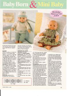 Baby Born Clothes Pattern Free Crochet Dresses 70 New Ideas Sirdar Knitting Patterns, Crochet Dolls Free Patterns, Baby Knitting, Crochet Baby, Free Crochet, Knitting Dolls Clothes, Knitted Dolls, Doll Clothes Patterns, Clothing Patterns