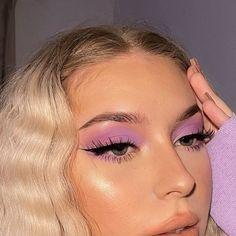 Cute Makeup Looks, Makeup Eye Looks, Pretty Makeup, Eye Makeup Art, Gorgeous Makeup, Purple Makeup Looks, Sweet Makeup, Purple Eye Makeup, Indie Makeup