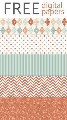 Lovelytocu - the Blog: Freebie #51 - free digital papers in oranges and teals