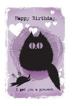 Cat Card I Got You A Present by MADOLDCATLADY on Etsy, £2.85