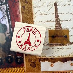Decorative Stamps Rubber Stamp_Mini Eiffel Tower