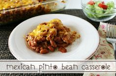 Mexican Pinto Bean Casserole by Love Bakes Good Cakes