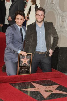 James Franco (with Seth Rogen) Honored with a Star on the Hollywood Walk of Fame on March 7, 2013