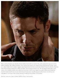 "This breaks my heart  (﹂︹﹂ა) ♥╭╮♥ || Dean Winchester #Sam Winchester #Supernatural 10x09 ""the things we left behind"""