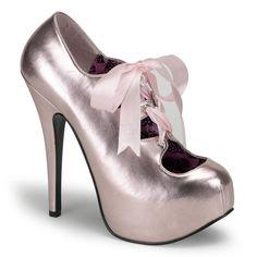New Bordello TEEZE 09 Baby Pink Metallic PU Stiletto 5.75 inch High Heels   PleaserBordello   5131c666ad