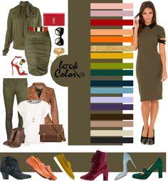 Color Wheel Fashion, Colour Combinations Fashion, Color Combinations For Clothes, Fashion Colours, Colorful Fashion, Color Combos, Deep Autumn Color Palette, Olive Green Skirt, Estilo Hippy
