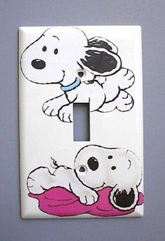 Baby Snoopy Single Switch Plate switchplate Peanuts: Everything Else Snoopy Nursery, Baby Snoopy, Snoopy Love, Snoopy And Woodstock, Baby Boy Nurseries, Babies Nursery, Nursery Themes, Theme Bedrooms, Retro Crafts
