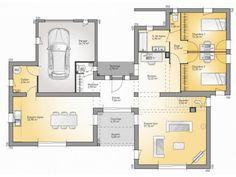 plans de maison rdc du modle bioclima maison moderne tage de 160m2