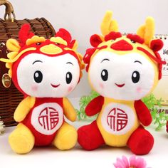 Promotions! Hot Sale Wholesale 21cm Chinese dragon Plush toy with suction cup cartoon toy free shipping on AliExpress.com. $38.46