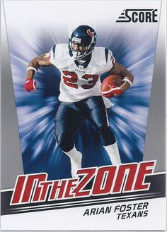 Arian Foster Houston Texans 2011 Score In The Zone Insert Card #2