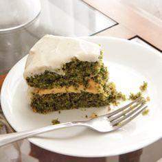 Vegan Kale Cake is now a thing. This green cousin of carrot cake is packed with kale, filled with sweet potato.