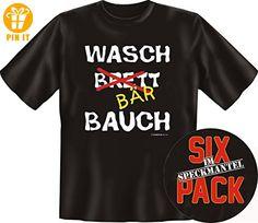 WASCHBRETTBAUCH WASCHBÄRBAUCH Geschenk Shirt schwarz XL, BIG BOYS Männergeschenk für große Größen +Button - T-Shirts mit Spruch | Lustige und coole T-Shirts | Funny T-Shirts (*Partner-Link)