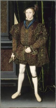 Edward VI, c. 1550, by William Scrots (ca.1537-1554) Musée du Louvre. The painting was sent to the French court in 1552.
