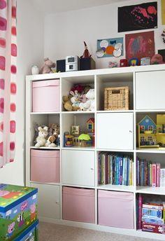 Ikea storage idea for playroom
