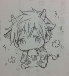 From jinbei_kawaii ...  Free! - Iwatobi Swim Club, free!, iwatobi, makoto tachibana, makoto, tachibana, mookoto, cow