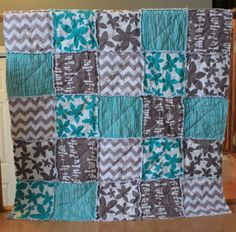 Baby Rag Quilt Gender Neutral Baby QuiltReady To by RozonsRags
