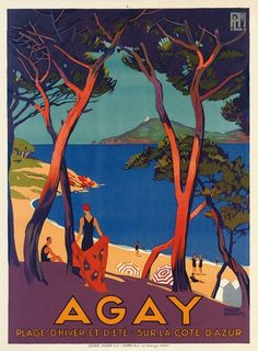 Vintage Travel Posters That Will Make You Want to Visit the South of France : Condé Nast Traveler (Agay 1930)