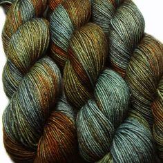 sw wool nylon sock yarn URBAN SPRAWL hand by lanitiumexmachina