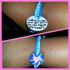 Key tag rubberband bracelet.