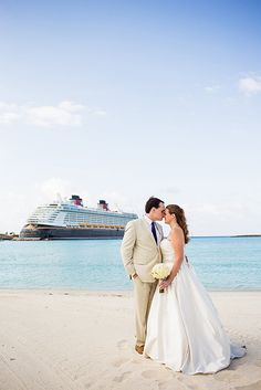 "Offering a little something for everyone, saying ""I do"" with Disney Cruise Line was a dream come true for Katy & Chris"