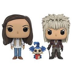 """Through dangers untold and hardships unnumbered, Jim Henson's Labyrinth has finally gotten the Funko treatment with these fantastic POP! vinyls. Choose from Jareth, Hoggle, Sarah (with a certain dapper lil worm), or a super-sized 6"""" Ludo!"""