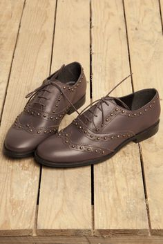 Keep your look flawless in studded schuh brogues.