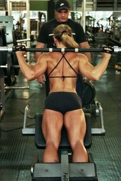 That back!!!!! Top 10 Barbell Exercises For Women.--- good recommendations but some of the pictures are wrong