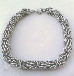 Stainless Steel Trizantine Chain Maille Bracelet USA Chainmaille Chain Mail