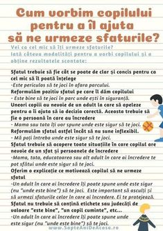 #Parenting #descarcă #Infografic #copii #părinți #comunicare #eficientă Cum vorbim copilului pentru a îl ajuta să ne urmeze sfaturile? (Infografic) Infant Activities, Kindergarten Activities, Activities For Kids, Kids And Parenting, Parenting Hacks, Positive Discipline, Teaching Materials, Raising Kids, Relationships