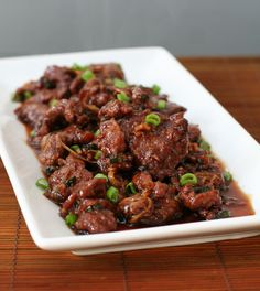 Mongolian Beef- I'm sure you could get away with a 1/2 cup or less on the brown sugar.