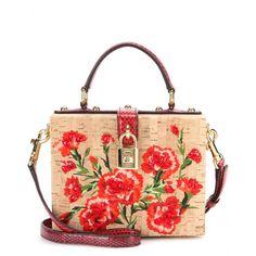 mytheresa.com - Embellished cork shoulder bag - Totes - Bags - Dolce & Gabbana - Luxury Fashion for Women / Designer clothing, shoes, bags
