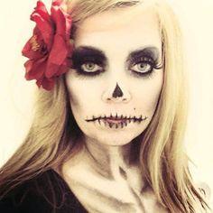 Maquiagem referência para o Halloween: com um quê de caveira mexicana