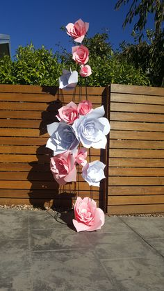 Ceremony Stands or room decoration. Covered in custom made paper flowers to suit your theme Sarah.jane.events@outlook.com