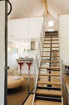 Building lofts on pinterest tiny house loft loft and Motorized attic stairs