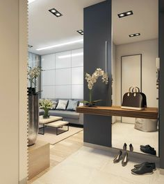Ideas Apartment Entrance Wall Mirror For 2019 - kitchen apartment. Ideas Apartment Entrance Wall Mirror For 2019 Ideas Apartment Entrance Wall Mirror For 2019 Room Furniture Design, Living Room Furniture, Living Room Decor, Apartment Entrance, House Entrance, Entrance Ideas, Modern Entrance, Small Entrance Halls, Modern Hall