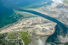 #Sandy Neck #Beach in Barnstable Harbor spills in to Cape Cod Bay in Cap Cod, #Massachusetts. Aerial photo. Photograph Matt Suess
