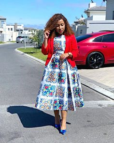 It's a beautiful week 🌼 Put your best foot forward 🌹🥀 Style Inspiration from 💕 😍 . African Wear Dresses, Latest African Fashion Dresses, African Print Fashion, African Attire, Kimono Fashion, Skirt Fashion, Shweshwe Dresses, Plein Air, Pretty Dresses