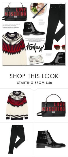 """Sin título #1512"" by makeupgoddess ❤ liked on Polyvore featuring Chloé, Love Moschino, Gianvito Rossi and Dolce&Gabbana"