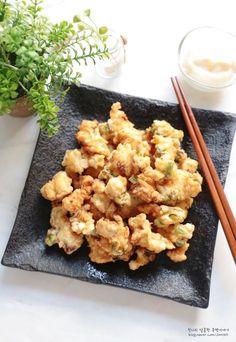 K Food, Food Menu, Korean Dishes, Korean Food, Menu Restaurant, Cauliflower, Food And Drink, Tasty, Baking