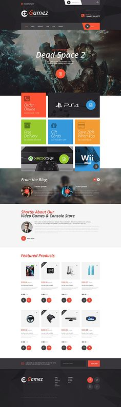 Video Games & Consoles Online Store #WooCommerce #template. #themes…