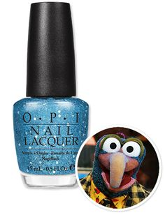 Gonzo nail polish!  I want every OPI Muppet color!!!