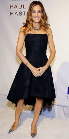 SJP in an exquisite LBD