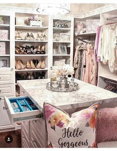 Dressing Room Inspiration We would like to thank you if you like this post . - Dressing Room Inspiration We would like to thank you if you would like to share this article with o - Master Closet, Closet Bedroom, Bedroom Decor, Gold Bedroom, Bedroom Themes, White Bedroom, Bedroom Ideas, Dressing Room Closet, Dressing Room Design