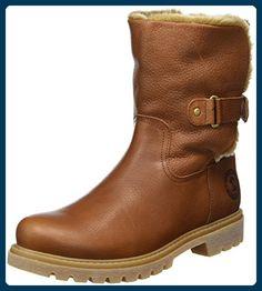Panama Jack Felia  Damen Warm gefüttert Biker Boots Halbschaft Stiefel & Stiefeletten, Braun (Bark B8), 40 EU - Stiefel für frauen (*Partner-Link)