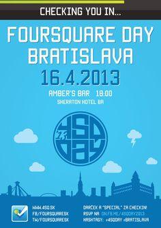 #4sqDay #Bratislava 2013 Flyer