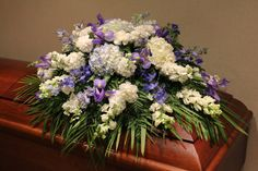 Send Heavenly Blue Casket Spray in Burbank, CA from Samuel's Florist, the best florist in Burbank. All flowers are hand delivered and same day delivery may be available.