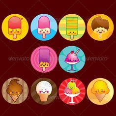 Ice cream buttons